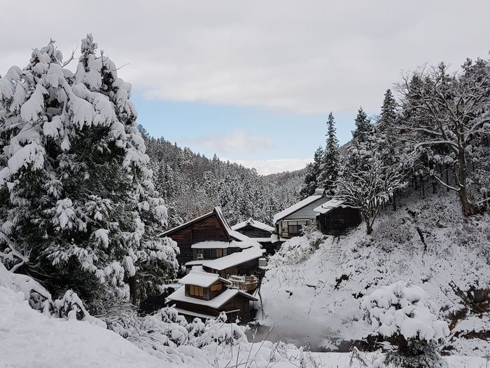 winter beauty... Snow Winter Mountain Cloud - Sky Cold Temperature Travel Destinations Outdoors