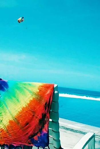 Photoart Day Blue Combination Parachute Flying Rainbow Colors
