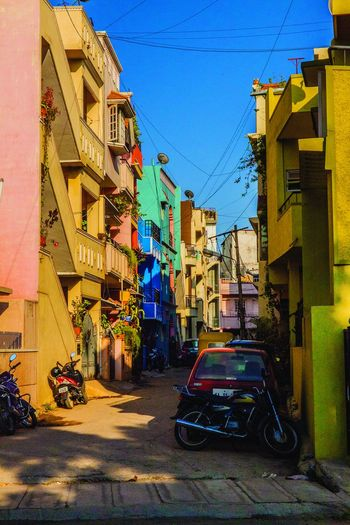 Road in Bangalore Bangalore Colors Colors Of India House India Light And Shadow Road Street Summer