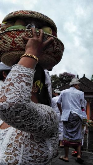 one woman onlyOne Person One Woman Only Adults Only Only Women People Outdoors Day Women Portrait Adult Headwear Young Adult Bali, Indonesia Balinese Temple Festival