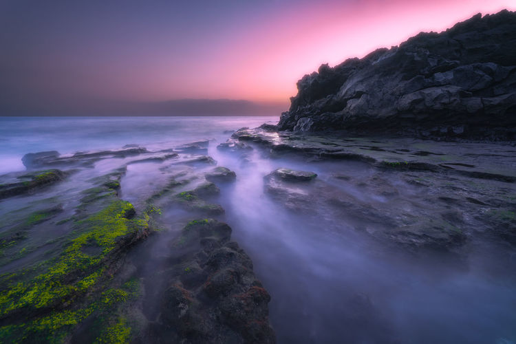 Longexposure Landscape Water Seascape Canarias Movement Rocks Sea Beauty In Nature Scenics - Nature Sky Motion Rock Land Horizon Over Water Nature Rock - Object Solid Beach Sunset No People Long Exposure Tranquility Tranquil Scene Horizon Outdoors Power In Nature
