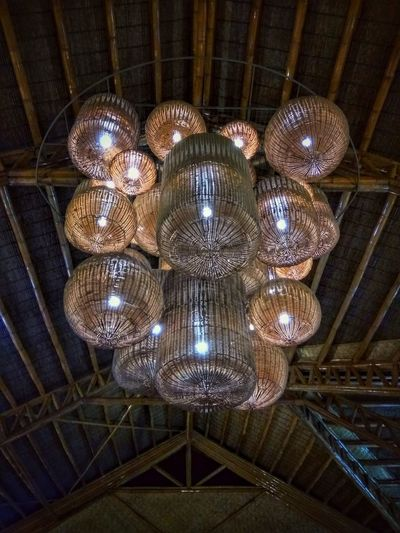 Kulotitayclicks Xiaomiphotography XiaomiPhilippines Shotbymi Xiaomiredminote3 Kulotitay Clicks Mobile Photography Native Art Rattan Illuminated Hanging Electricity  Ceiling Lighting Equipment Architecture Built Structure Chandelier Hanging Light Electric Light