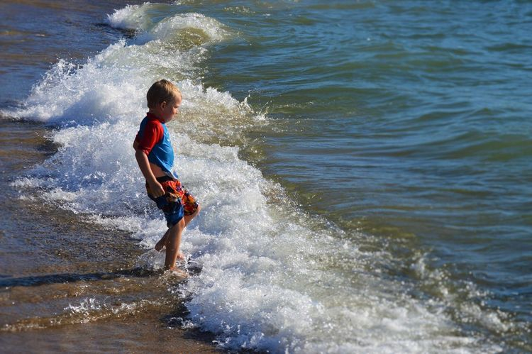 St Joseph Mi Michigan Beach Sand Sand And Beach Sand And Water Waves Lakeview Lake Michigan Son Boy Childhood Children Photography Childhood Memories Running In The Waves Running Into Water Place Of Heart