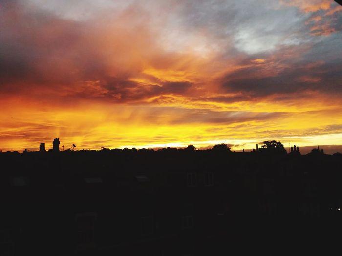 Melting sunset