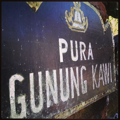 Probably the only temple we'll be visiting here..gonna do water rafting tomorrow.. we want to enjoy Bali.. :)