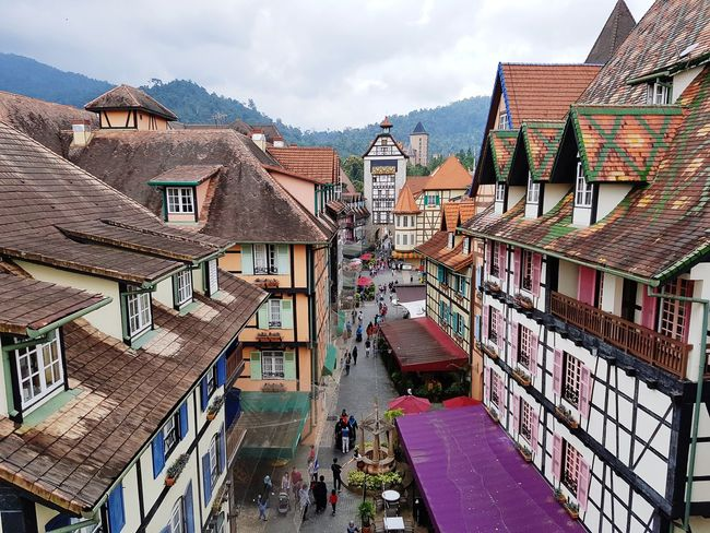 View around Colmar Tropicale at Bukit Tinggi, Pahang, Malaysia. Travel City Cityscape Architecture Sky Building Exterior Built Structure