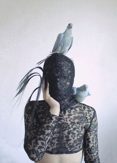 EyeEmNewHere Birds Bird Costume Poetry Aesthetics Queer Gay Malebody Male Boy Photography Skin Body Part Young Men Pale White Beauty White Background Young Women Studio Shot Females Women Portrait Rear View Arts Culture And Entertainment Standing Tangled Hair Hairy  Modern Art