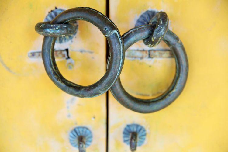 Close Up Of Metal Rings