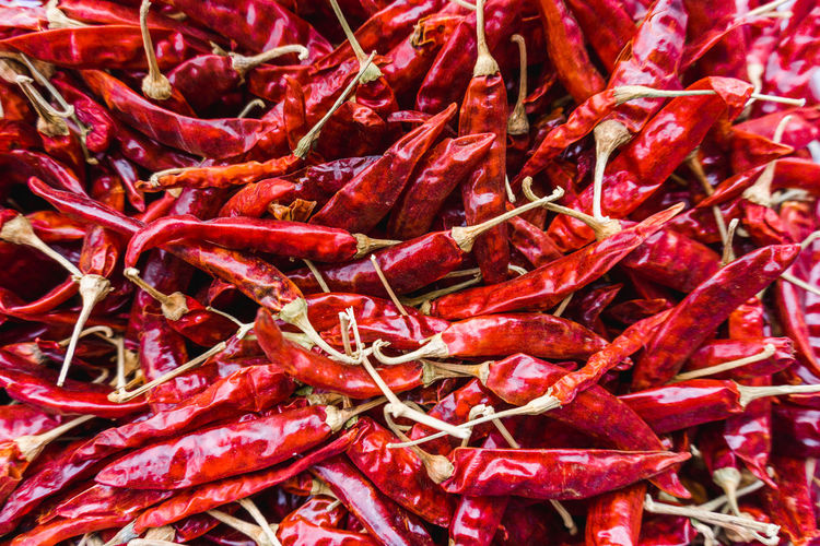 Abundance Backgrounds Chili Pepper Close-up Food Food And Drink Freshness Full Frame Healthy Eating Indoors  Large Group Of Objects Market No People Pepper Red Red Chili Pepper Spice Still Life Vegetable Wellbeing