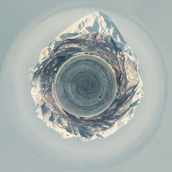 Little planet 360 degree sphere. Panorama of Koryaksky volcano and surrounding snow-covered countryside. Kamchatka. Far East. Russia 3 Dimensional 360 Degree Circle Earth Far East Panorama Panoramic Russia Skyline Snow Capped Mountains Sphere Tiny Winter Globe Icy Kamchatka Landscape Miniature Mountains Planet Three Dimensional Three Dimentional Photography Volcano World Worldwide