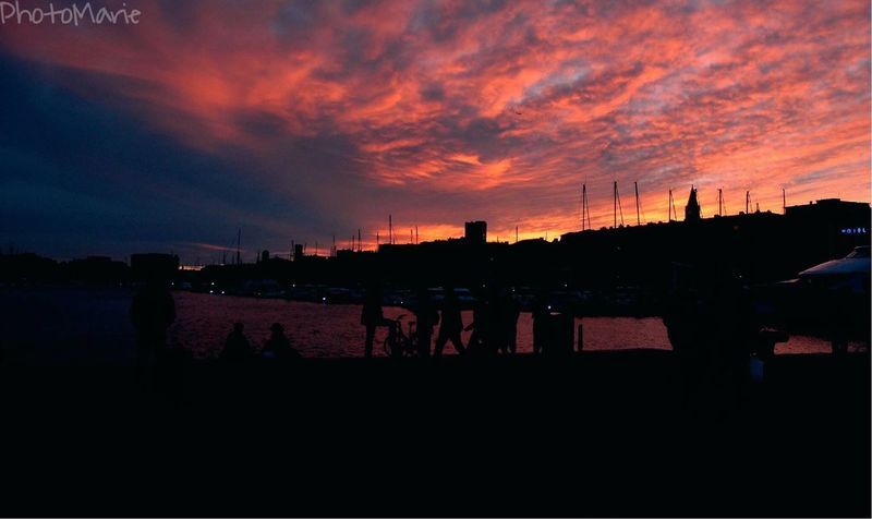 • Nuages ardents • Marseille Vieux Port Summer Hollydays Evening Evening Sky Evening Light Red Red Sky Urban Landscape South France Sea Passion Photographer