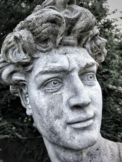 Statue Face Stone Face Sculpture Close-up