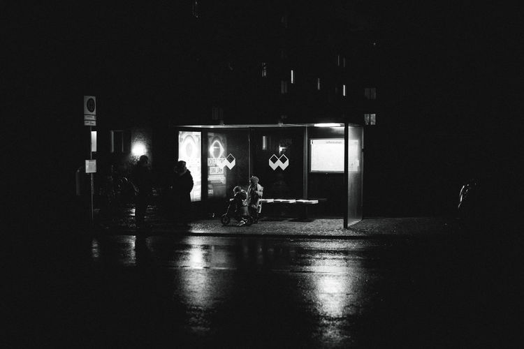 rainy nights. Berlin Night Real People Group Of People Illuminated Transportation Architecture Built Structure Men Lifestyles Indoors  Dark People Lighting Equipment Reflection City Mode Of Transportation Street Full Length Window