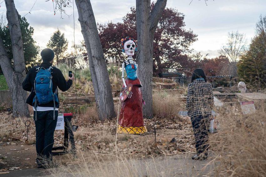 Diademuertos Outdoor Art Statue Mexico Mexican Holidays