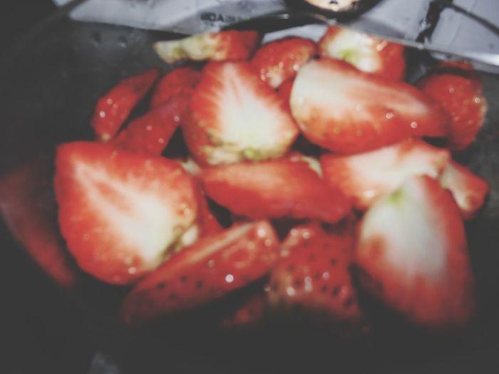 草莓跟牛奶真的是绝配啊