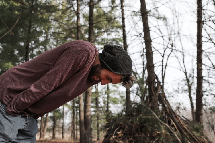 Adult Beanie Beanie <3 Forest Good Looking Hipster Hipster Style Men Nature Only Men Outdoors