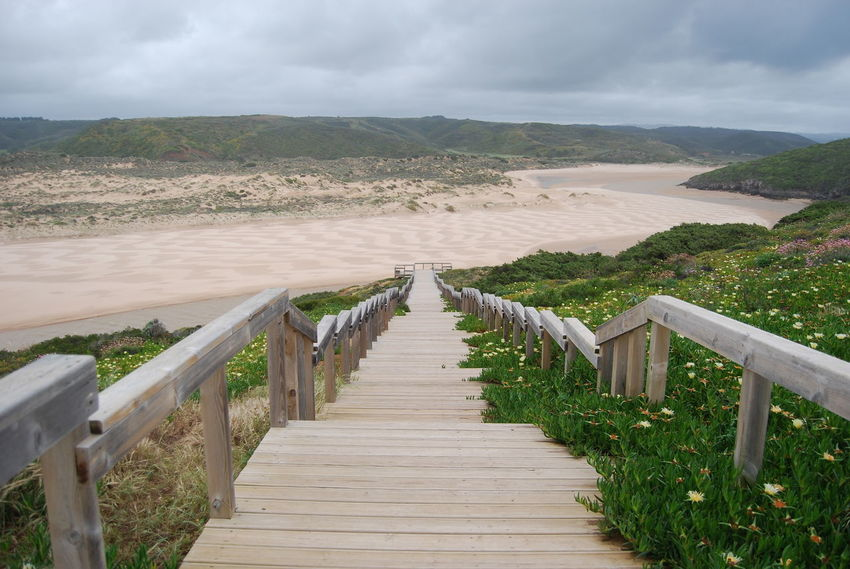 Beach Scenery Scenic Path Pathway Portugal