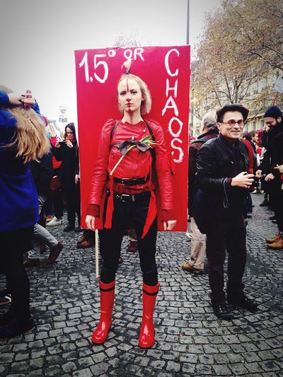 Demonstration How Do You See Climate Change? Red Paris Campaign For Climate Change Rally Activism Art Save The World Stop War Ecology Warrior Environmental Conservation