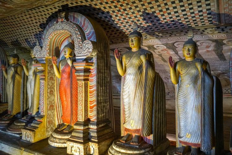Religion Spirituality Belief Human Representation Art And Craft Representation Sculpture Place Of Worship Architecture Statue No People Built Structure Gold Colored Indoors  Idol Ornate