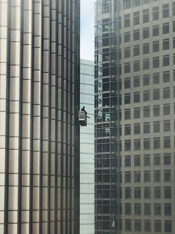 Another Day At Work Window Washer High Rise Looking Out The Window Cityscape Cityscapes