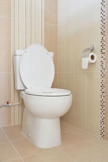 White curtain in bathroom