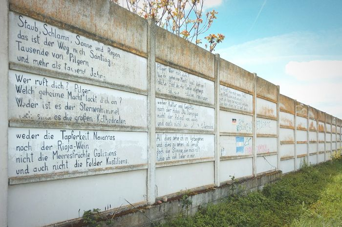 Writing On The Walls German Traveling Walking Camino Meaningful  in SPAIN