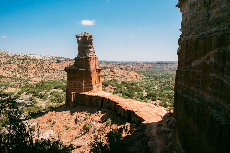 Nature Architecture Sky Built Structure Travel No People Sunlight Travel Destinations Day Rock Tourism Beauty In Nature Rock Formation Scenics - Nature Water Outdoors History Environment Non-urban Scene Tranquility Eroded Palo Duro Canyon, TX