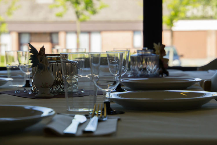 Absence Business Crockery Dining Table Drinking Glass Eating Utensil Food And Drink Furniture Glass Household Equipment Indoors  Kitchen Utensil Luxury No People Order Place Setting Plate Restaurant Selective Focus Setting Still Life Table Table Knife Wineglass The Still Life Photographer - 2018 EyeEm Awards