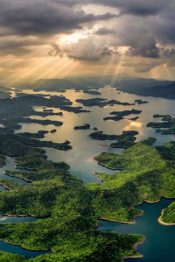 3 3D Aerial Shot Nature Tranquility Travel Vietnam Adventure Aerial Aerial Photography Aerial View Dac Nong Dak Nong Destination Dong Nai Island Lake Landscape Mountain No People Outdoors Sky Summer Ta Dung Travel Destinations