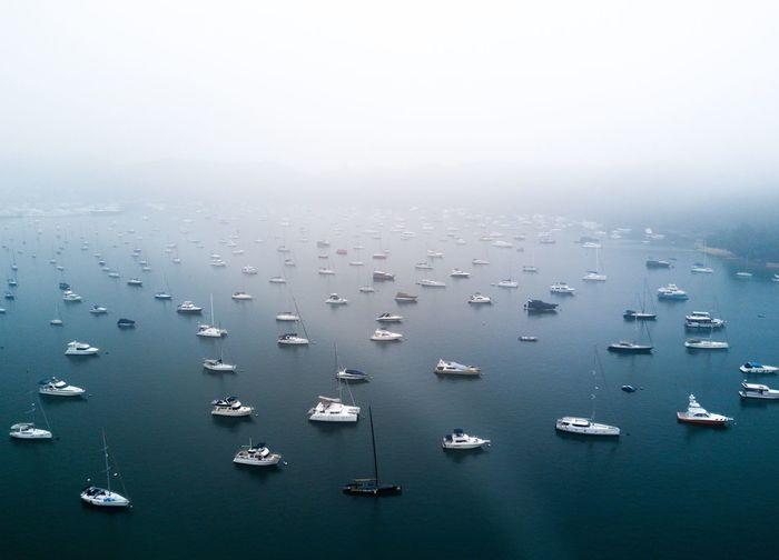 Dji Drone  HongKong Sea Boat Landscape Fog Foggy