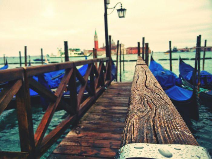 Looking To The Other Side Sea Venice Raindrops Closefocus Boats Wharf EyeEm Best Shots EyeEm Best Edits Travel
