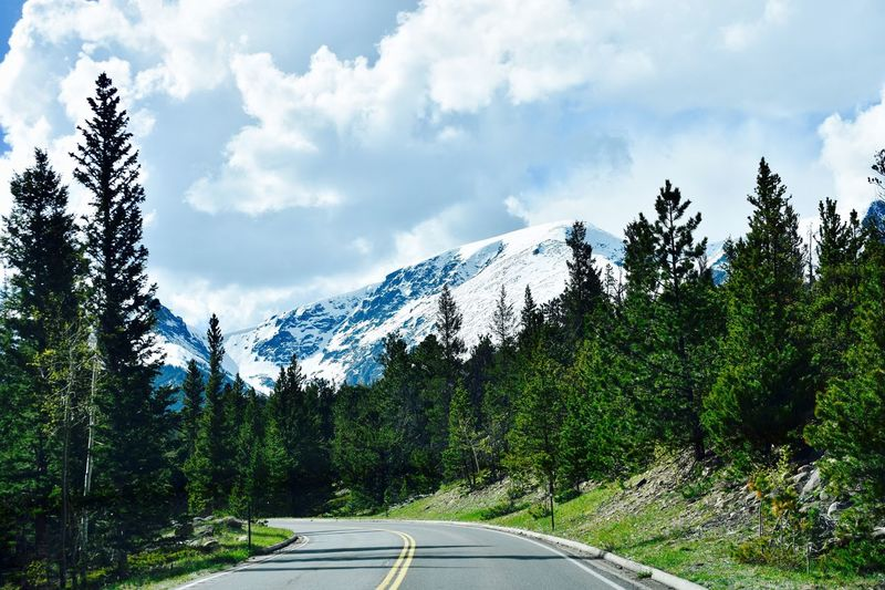 The Great Outdoors - 2017 EyeEm Awards Sky Cloud - Sky Tree Mountain Road Nature Transportation Beauty In Nature Tranquility Day Scenics Tranquil Scene The Way Forward No People Mountain Range Outdoors Colorado 100 Days Of Summer Been There. Perspectives On Nature Be. Ready. Shades Of Winter