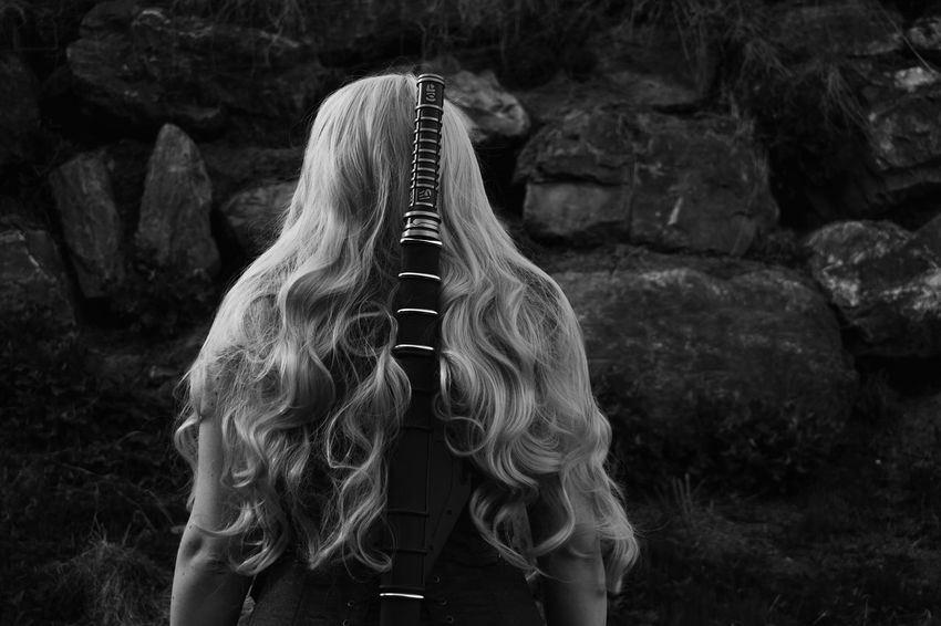 Black & White Noir Et Blanc Blackandwhite Blackandwhite Photography Blond Hair Long Hair Myownphotography Nature Neroebianco Noiretblanc Noiretblancphotographie One Person People Real People Standing Women Young Adult Young Women EyeEmNewHere Black And White Friday