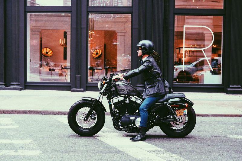 Motorcycle Transportation Side View Helmet People Building Exterior First Eyeem Photo