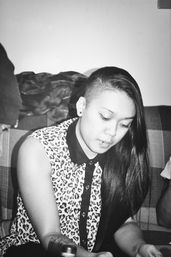 i miss my undercut & long hair ;(