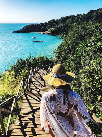 Down to paradise Beach Nature Paradise Brazil Calm Summer Water Nature Sky Sea Sunlight Plant Day Beach Beauty In Nature Scenics - Nature Tranquility Real People Outdoors EyeEmNewHere EyeEmNewHere A New Beginning International Women's Day 2019