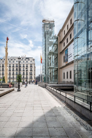 Reina Sofia Museum of Modern Art in Madrid Architecture Exterior Façade Madrid Modern Modern Architecture Reina Sofía  SPAIN Architecture Building Building Exterior Built Structure City Culture Modern Art Museum No People Outdoors Reina Sofía Museum Madrid