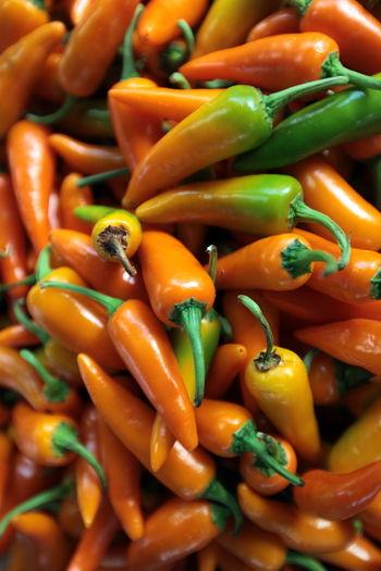 Orange colored chili peppers