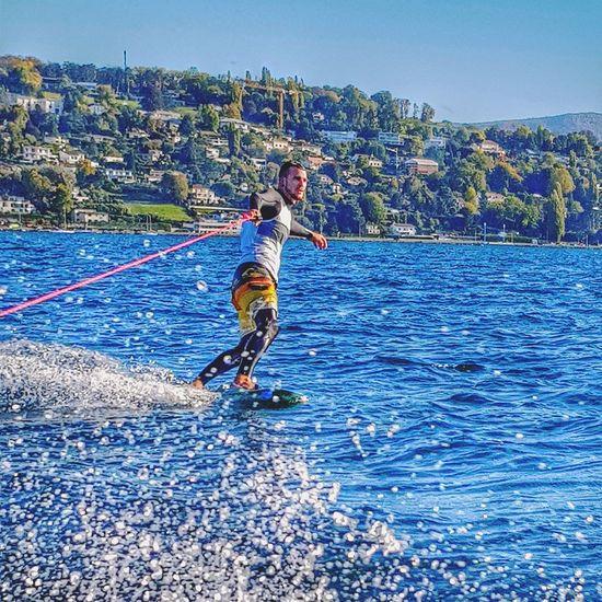 Geneva Lake Wake Wakeboarding Wakeboard Wakeboarding Life  Wakeboarding Life  Wakeboarding Life  Wakeboarder Geneva Lacdegeneve Leman Lake Switzerland Second Acts Be. Ready.