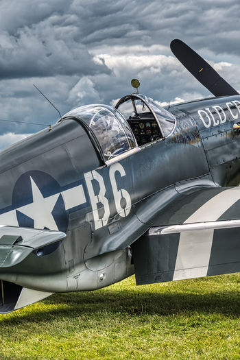 EAA Airventure, Oshkosh 2018 P51 Mustang Aviation Aerobatic Aero Aerospace Warbird Airshow Aircraft Plane Sky Day Nature Grass Transportation Cloud - Sky Airplane No People Military Outdoors Land Sunlight Fighter Plane Green Color Metal My Best Photo