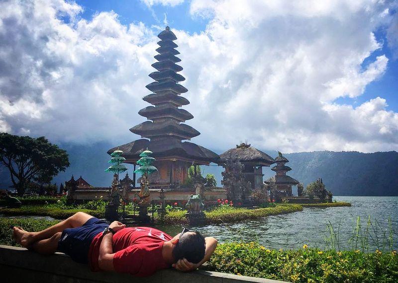 Sky Spirituality Religion Cloud - Sky Nature Day Outdoors Travel Destinations Architecture Building Exterior Bali Pura Ulun Danu Bratan Temple Bali, Indonesia