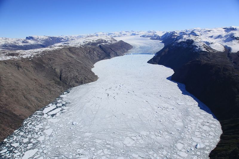 Crossing Inland ice, from Narsarsuaq, July 2013