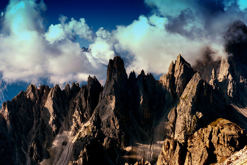 Dolomites Beauty In Nature Cloud - Sky Day Landscape Mountain Mountain Range Nature No People Outdoors Scenics Sky Tranquil Scene Tranquility