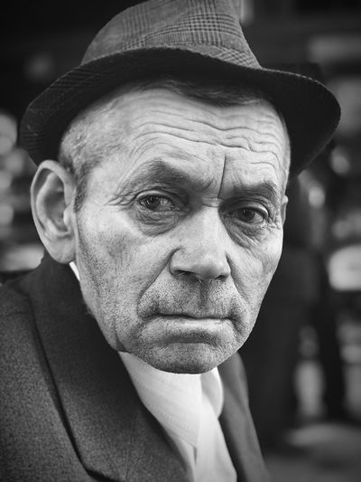 Black And White Sad Sadness Loneliness Old Man Portrait ShotOnIphone Alone Old Hat Portrait Headshot One Person Hat Men Adult Males  Real People Close-up Focus On Foreground Looking At Camera Senior Adult Mature Adult Front View Clothing Lifestyles Wrinkled Body Part Mature Men Human Face The Art Of Street Photography