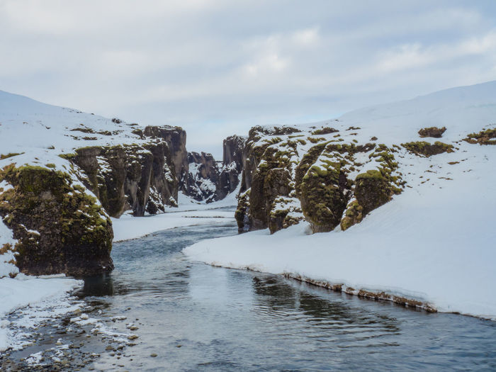 Beautiful Nature Iceland Iceland_collection Icicles Moss River Sky Snow Spring Has Arrived Stunning Winter
