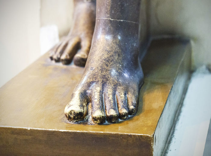 Close-up Egyptian Egyptian Museum Foot Part Of Pharahos Statue Statue Still Life