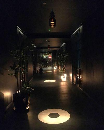 Beautiful lighting at Aqua Nueva Aqua Nueva Darkness Shadow Corridor Illuminated Lighting Equipment Night Architecture No People Built Structure The Way Forward Indoors  Light Dark