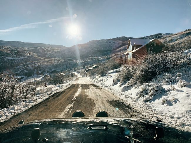 slow crawl down the icy mountain this morning. about 12° 🏔🦌 Mountain Road Iphonexs Wasatch County Wasatch Mountains Utah Wasatch Back Wasatch Mountains Sky Nature Sunlight Mountain Day Transportation Lens Flare