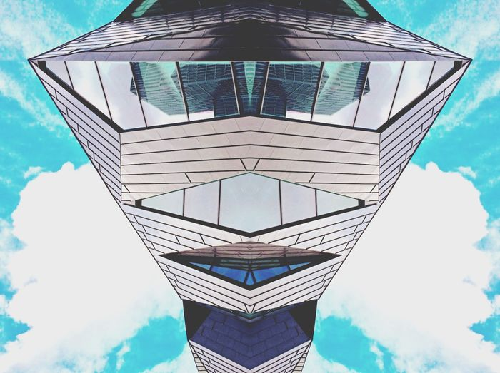 Experimental Sky And City Splitpic  Malmö Streetphotography Rule Of Thirds Urban Geometry Geometric Shapes The Architect - 2015 EyeEm Awards