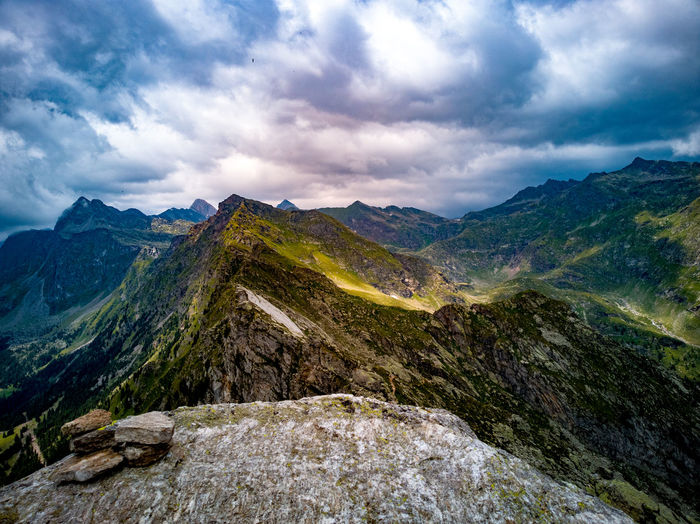 Top of the mountain ⛰ :) Cloud Tree Mountain Mountain Peak Forest Hiking Pinaceae Sky Landscape Mountain Range Cloud - Sky Dramatic Landscape Natural Landmark Rocky Mountains Canyon Extreme Terrain